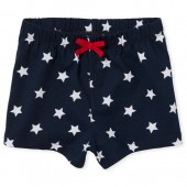 Baby And Toddler Girls Americana Matchables Star Print Knit Shorts