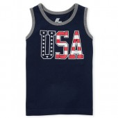 Baby And Toddler Boys Americana PLACE Sport Graphic Tank Top