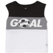 Baby And Toddler Boys PLACE Sport 'Goal' Soccer Graphic Muscle Tank Top