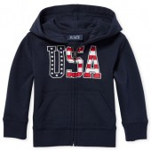 Baby And Toddler Boys Americana 'USA' Zip Up Hoodie