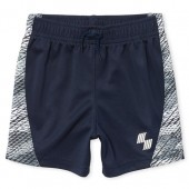 Baby And Toddler Boys PLACE Sport Side Stripe Print Basketball Shorts