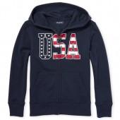 Boys Americana 'USA' Zip Up Hoodie