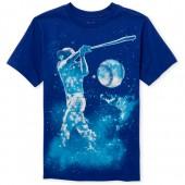 Boys Short Sleeve Baseball Player Graphic Tee