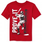 Boys Short Sleeve 'Prove It At The Plate' Baseball Graphic Tee