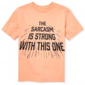 Boys Short Sleeve 'Sarcasm Is Strong With This One' Graphic Tee