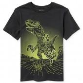Boys Short Sleeve Dino Graphic Tee