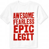 Boys Short Sleeve 'Awesome' Graphic Tee