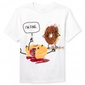 Boys Short Sleeve 'I'm Fine' Donuts Graphic Tee