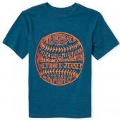 Boys Short Sleeve 'American Baseball' Graphic Tee