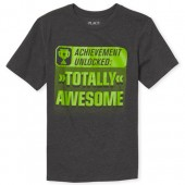 Boys Short Sleeve 'Totally Awesome' Graphic Tee