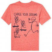 Boys Short Sleeve 'Chase Your Dreams' Graphic Tee