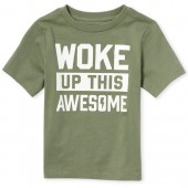 Baby And Toddler Boys Short Sleeve 'Woke Up This Awesome' Graphic Tee