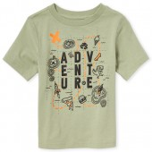 Baby And Toddler Boys Short Sleeve 'Adventure' Graphic Tee