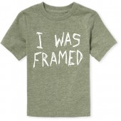 Baby And Toddler Boys Short Sleeve 'I Was Framed' Graphic Tee