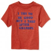 Baby And Toddler Boys Short Sleeve 'I Take After Grandpa Graphic Tee