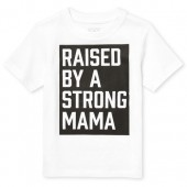 Baby And Toddler Boys Short Sleeve 'Strong Mama' Graphic Tee