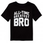 Baby And Toddler Boys Short Sleeve 'All Time Greatest Bro' Graphic Tee