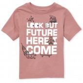 Baby And Toddler Boys Short Sleeve 'Look Out Future' Graphic Tee