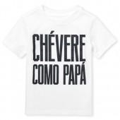 Baby And Toddler Boys Short Sleeve 'Chevere Como Papa' Graphic Tee