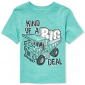 Baby And Toddler Boys Short Sleeve 'Kind Of A Big Deal' Truck Graphic Tee