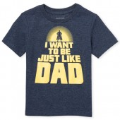 Baby And Toddler Boys Short Sleeve 'Just Like Dad' Graphic Tee