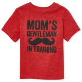 Baby And Toddler Boys Short Sleeve 'Mom's Gentleman' Graphic Tee