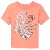 Baby And Toddler Boys Short Sleeve 'Rawr Some' Dino Graphic Tee