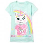Girls Short Sleeve 'I'm Really A Unicorn' Caticorn Graphic Tee