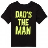 Baby And Toddler Boys Short Sleeve 'Dad's The Man' Graphic Tee