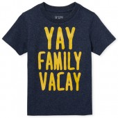 Baby And Toddler Boys Short Sleeve 'Family Vacay' Graphic Tee