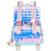 Girls Glitter Unicorn Holographic Mini Backpack