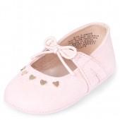 Baby Girls Heart Stud Ballet Flats