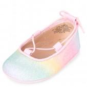 Baby Girls Rainbow Glitter Ballet Flats