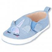 Baby Girls Unicorn Denim Slip On Sneakers