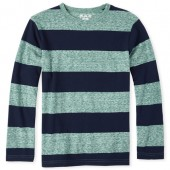 Boys Long Sleeve Striped Snow Jersey Top