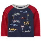 Baby And Toddler Boys Long Raglan Sleeve Graphic Top