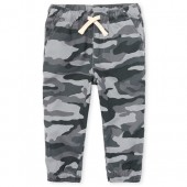 Baby And Toddler Boys Camo Woven Pull On Jogger Pants
