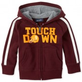 Baby And Toddler Boys Active 'Touch Down' Fleece Zip Up Hoodie