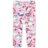 Toddler Girls Rainbow Unicorn Print Tie Dye Leggings