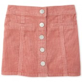 Baby And Toddler Girls Button Front Cord Skirt
