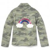 Girls Rainbow Side Stripe Camo Jacket