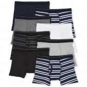Boys Striped Boxer Briefs 8-Pack