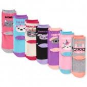 Girls Critter Days Of The Week Crew Socks 7-Pack