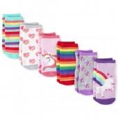 Toddler Girls Rainbow Unicorn Crew Socks 6-Pack