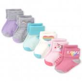 Toddler Girls Glitter Unicorn Turn Cuff Socks 6-Pack