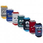 Toddler Boys Monster Days Of The Week Crew Socks 7-Pack