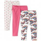 Girls Rainbow Unicorn Leggings 3-Pack