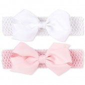 Baby Girls Bow Crochet Headwrap 2-Pack