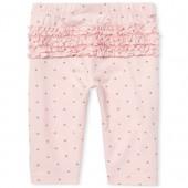 Baby Girls Glitter Dot Print Ruffle Leggings
