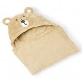 Baby Boys Bear Friends Hooded Cozy Blanket